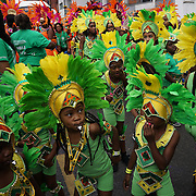 London,England,UK, 28th Aug 2016 : Large crowds attend the parade on Children's Day with many colourful costumes on display as the Notting Hill carnival kicks off © See Li/Picture Capital