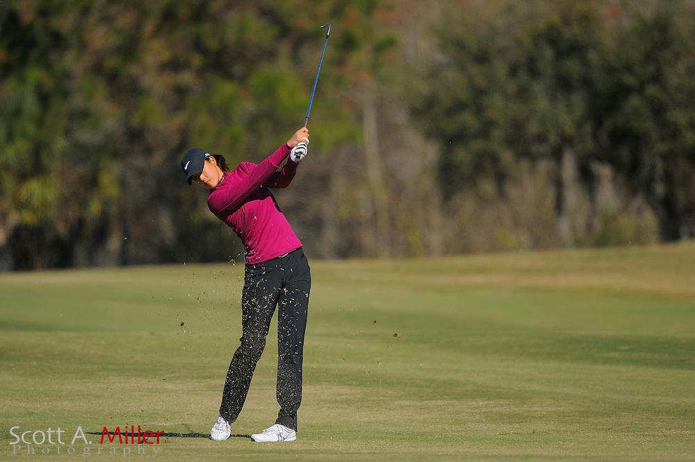 Dec. 7, 2008; Daytona, FL, USA; Michelle Wie during the final round of LPGA Qualifying School on the Champions Course at LPGA International. .......©2008 Scott A. Miller