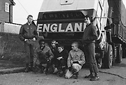 Group of Skins with Lorry, UK, 1980s.