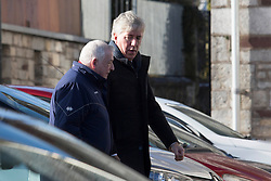 Chief executive of the Football Association of Ireland John Delaney at St. John the Baptist Church in Ovens, County Cork, for the funeral of former Celtic and Manchester United footballer Liam Miller.