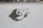 Marilyn Monroe Snow Portrait