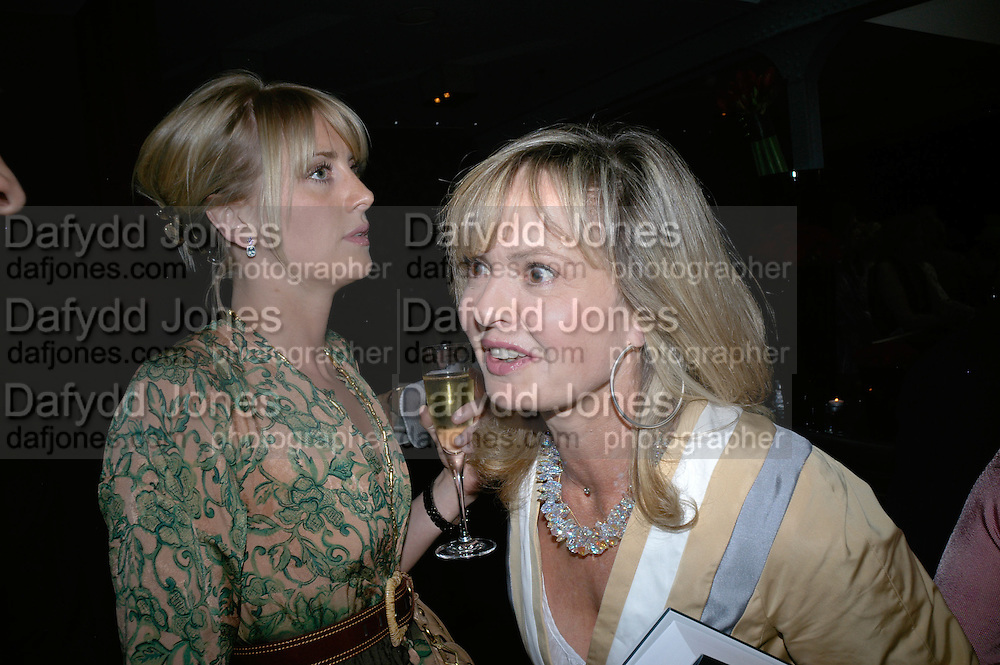 Lady Emily Compton and Princess Maya Schonburg, Book launch hosted by Geordie Greig for Fulfilment & Betrayal by  Naim Attallah: Bluebird, 350 King's Road, London. 1 May 2007.  -DO NOT ARCHIVE-© Copyright Photograph by Dafydd Jones. 248 Clapham Rd. London SW9 0PZ. Tel 0207 820 0771. www.dafjones.com.