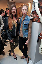 Left to right, REBECCA HOFFNUNG and ANOUSKA GERHAUSER at the Mother of Pearl Launch at The Other Criteria, 36 New Bond Street, London W1 on 12th April 2011.