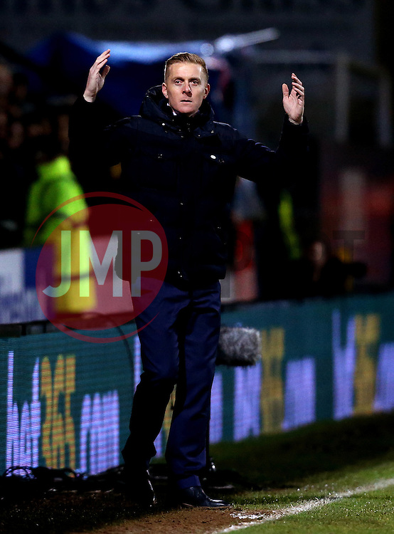 Leeds United manager Garry Monk looks frustrated - Mandatory by-line: Robbie Stephenson/JMP - 09/01/2017 - FOOTBALL - Cambs Glass Stadium - Cambridge, England - Cambridge United v Leeds United - FA Cup third round