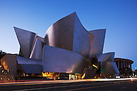 Walt Disney Concert Hall at Dusk, Los Angeles, California