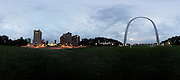 St. Louis Arch Panorama Tuesday, Aug. 18, 2013.