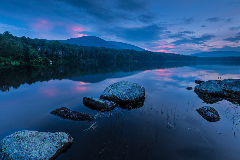 Twilight on Seyon Pond in Groton State Forest, Vermont