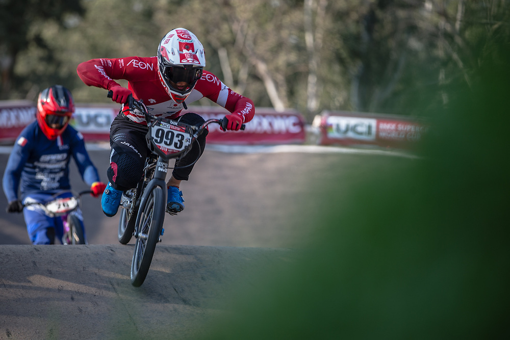 #993 (NAGASAKO Yoshitaku) JPN at Round 10 of the 2019 UCI BMX Supercross World Cup in Santiago del Estero, Argentina