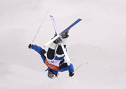 Korea's Ji Hyon Kim in the Men's Moguls Final Qualification during day three of the PyeongChang 2018 Winter Olympic Games in South Korea. PRESS ASSOCIATION Photo. Picture date: Monday February 12, 2018. See PA story OLYMPICS Moguls. Photo credit should read: Mike Egerton/PA Wire. RESTRICTIONS: Editorial use only. No commercial use.