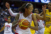 Team USA forward Seimone Augustus in action during the 2012 USA Women's Basketball Team versus Brazil at Verizon Center in Washington, DC.  USA won 99-67.  July 16, 2012  (Photo by Mark W. Sutton)