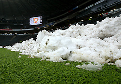 A general view of StadiumMK ahead of the Sky Bet League One match between Milton Keynes Dons and Bristol Rovers with snow around the pitch - Mandatory by-line: Robbie Stephenson/JMP - 03/03/2018 - FOOTBALL - Stadium MK - Milton Keynes, England - Milton Keynes Dons v Bristol Rovers - Sky Bet League One