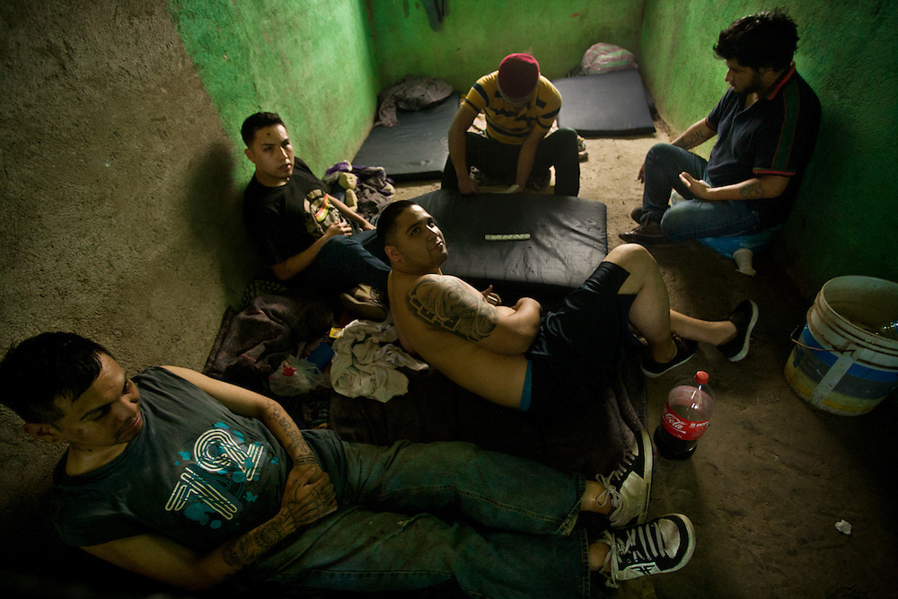 Detainees from Mexico city in the nearby village of Ocotito which is in the FUSDEG territory. The young men were drunk driving and in possession of marijuana and were detained for two days.