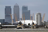 Thames Barrier - Flood Defence - Millennium Dome - The O2 - Canary Wharf
