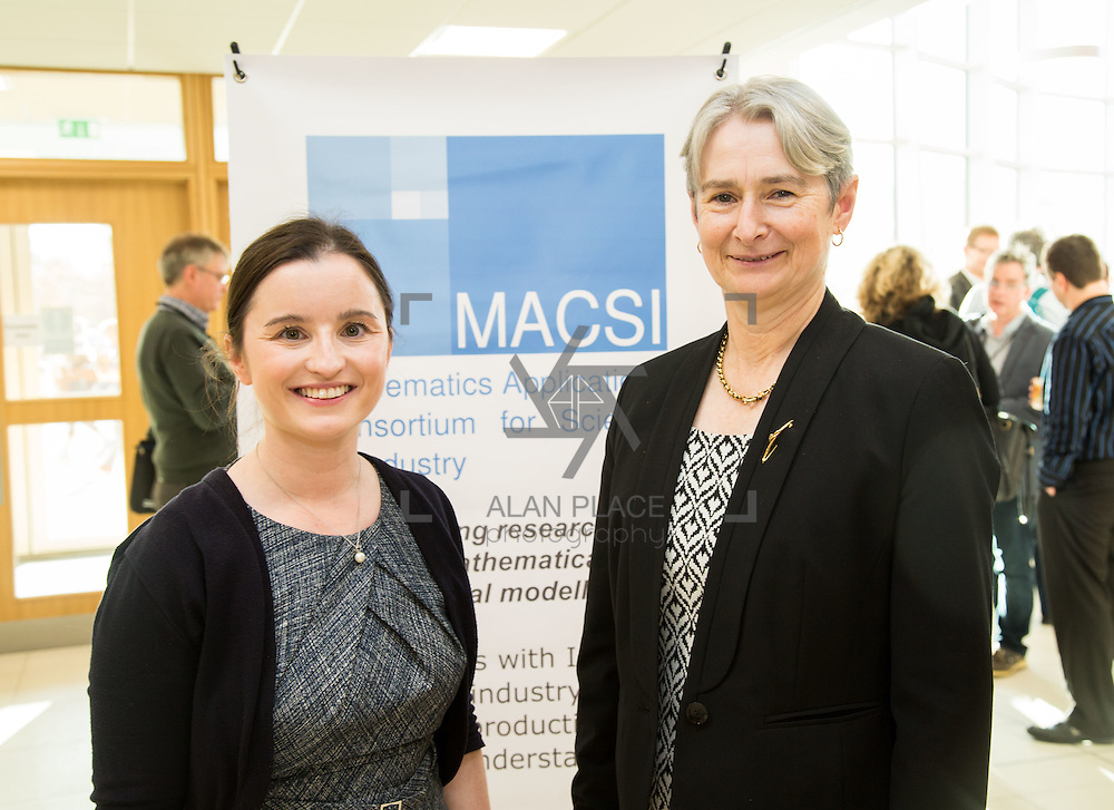 08.12.2016                   <br /> Pictured at the MACSI 10 conference, Analog Devices Building UL were, Sinead Burke, MACSI and Peg Hanrahan, MACSI. Picture: Alan Place