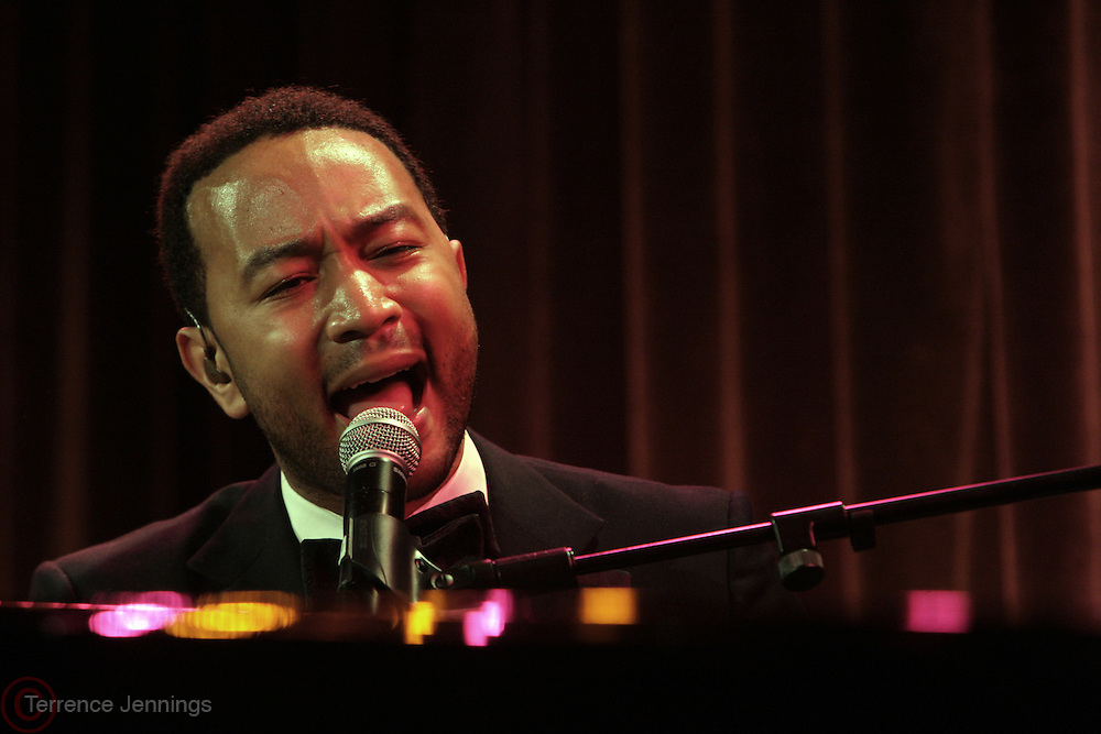 New York, NY-April 18: Recording Artist John Legend performs at Rev. Al Sharpton's National Action Network's Keeper of the Dream Awards held at Cipriani's Wall Street on April 18, 2012 in New York City. (Photo by Terrence Jennings)