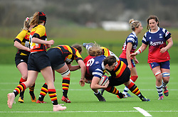 Ebony Jefferies of Bristol Bears Women is tackled by Povey of Richmond Women- Mandatory by-line: Nizaam Jones/JMP - 23/03/2019 - RUGBY - Shaftesbury Park - Bristol, England - Bristol Bears Women v Richmond Women- Tyrrells Premier 15s