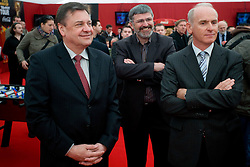 Zoran Jankovic, Roman Jakic and Joze Mermal at VIP reception of FIFA World Cup Trophy Tour by Coca-Cola, on March 29, 2010, in BTC City, Ljubljana, Slovenia.  (Photo by Vid Ponikvar / Sportida)