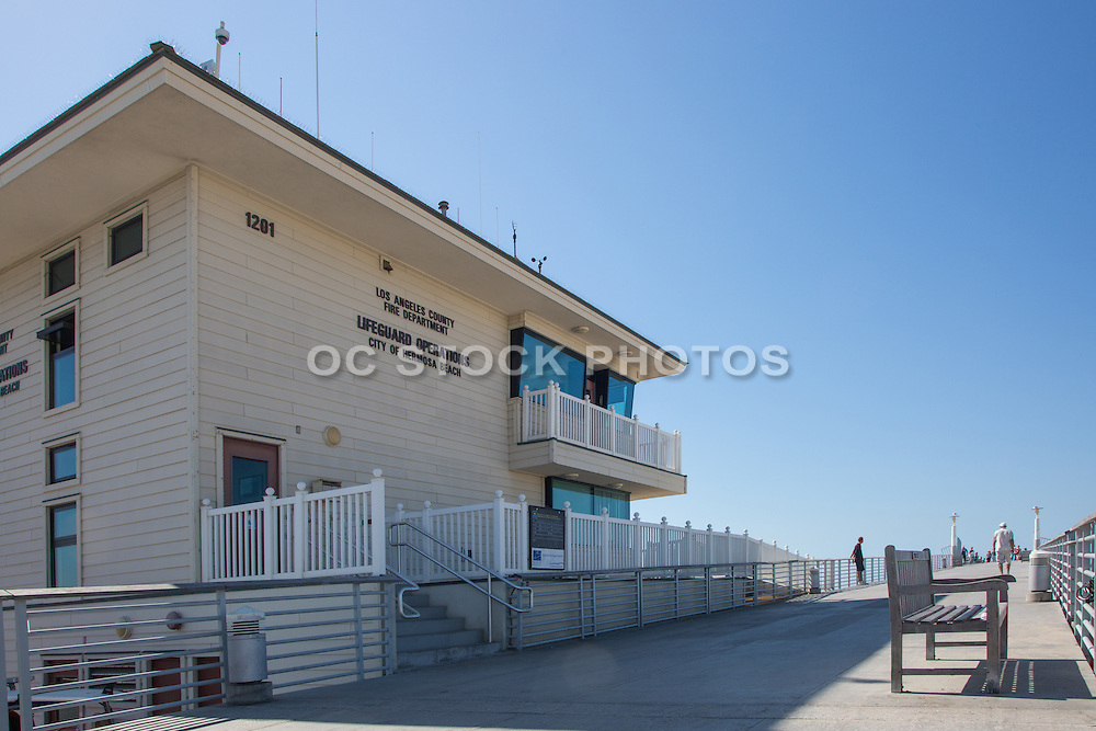 Lifeguard Operations Building on Hermosa Beach Pier