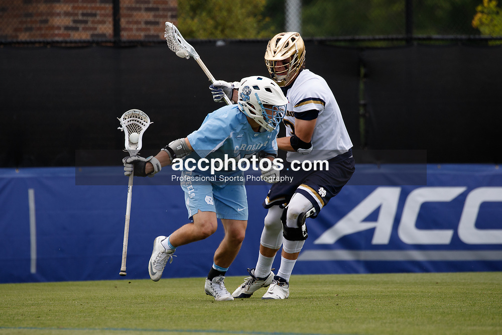 2017 April 30: Timmy Kelly #15 of the North Carolina Tar Heels during a 14-10 win over the Notre Dame Fighting Irish to win the ACC Championship at Koskinen Stadium in Durham, NC.