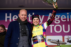 Lisa Klein (GER) takes the lead in the general classification at Healthy Ageing Tour 2019 - Stage 4A, a 14.4km individual time trial starting and finishing in Winsum, Netherlands on April 13, 2019. Photo by Sean Robinson/velofocus.com