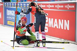 Urska Poje (SLO) finishing the Single Mixed Relay 6 km / 7,5 kmn at day 3 of IBU Biathlon World Cup 2019/20 Pokljuka, on January 23, 2020 in Rudno polje, Pokljuka, Pokljuka, Slovenia. Photo by Peter Podobnik / Sportida