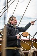 Antarctica, February 2018.  Captain Eric Kesteloo. Dutch Tallship, Bark Europa, explores Antarctica during a 22 day sailing expedition. Photo by Frits Meyst / MeystPhoto.com