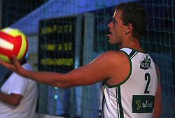Joze Casar (Atlantis Team) at qualifications for 14th National Championship of Slovenia in Beach Volleyball and also 4th tournament of series TUSMOBIL LG presented by Nestea, on July 25, 2008, in Kranj, Slovenija. (Photo by Vid Ponikvar / Sportal Images)/ Sportida)