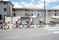 Nikki Brammeier (GBR) of Boels-Dolmans Cycling Team ride mid-pack during Stage 2 of the Giro Rosa - a 122.2 km road race, between Zoppola and Montereale Valcellina on July 1, 2017, in Pordenone, Italy. (Photo by Balint Hamvas/Velofocus.com)