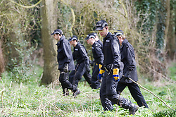 © under license to London News Pictures.  21/03/2011. Police search park land near the town Centre of Swindon today (21/03/2011) after Sian O'Callaghan, a 22 year-old PR mysteriously vanished after a night out at Suju nightclub in Swindon, Wilts  on Friday night. Photo credit should read: LNP