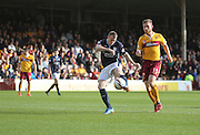 David Clarkson scores for Dundee in the third minute of his return to former club Motherwell - Motherwell v Dundee, SPFL Premiership at Fir Park<br /> <br />  - &copy; David Young - www.davidyoungphoto.co.uk - email: davidyoungphoto@gmail.com