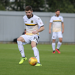 Kyle Hutton in action during the Dumbarton v Connah's Quay Nomads Irn Bru cup second round 2 September 2017<br /> <br /> <br /> <br /> <br /> (c) Andy Scott | SportPix.org.uk
