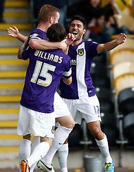 Oxford United's Danny Rose celebrates his goal  - Photo mandatory by-line: Matt Bunn/JMP - Tel: Mobile: 07966 386802 07/09/2013 - SPORT - FOOTBALL -  Pirelli Stadium - Burton upon Trent - Burton Albion V Oxford United - Sky Bet League Two