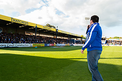 Argentinian fan Francisco Perez is welcomed by the fans to the Memorial Stadium half time - Mandatory by-line: Ryan Hiscott/JMP - 04/05/2019 - FOOTBALL - Memorial Stadium - Bristol, England - Bristol Rovers v Barnsley - Sky Bet League One