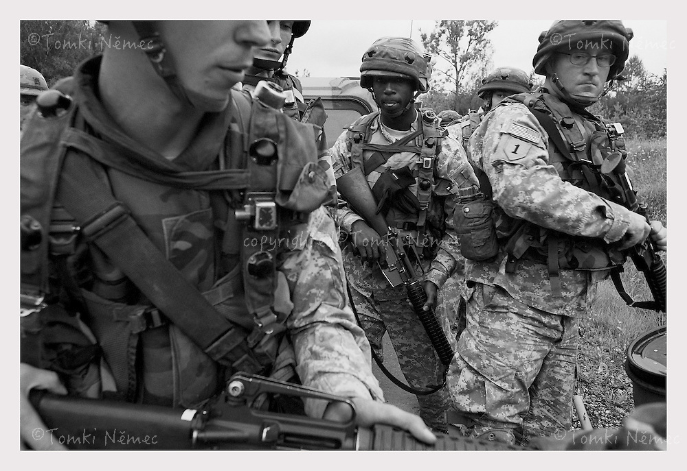 US Training Base in Grafenwoehr, Germany. 220 km2, more than 20000 people. Soldiers are training for war in IRAQ, Afghanistan etc...