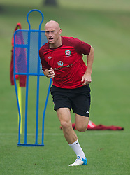 CARDIFF, WALES - Saturday, September 8, 2012: Wales' James Collins during a training session at the Vale of Glamorgan ahead of the 2014 FIFA World Cup Brazil Qualifying Group A match against Serbia. (Pic by David Rawcliffe/Propaganda)