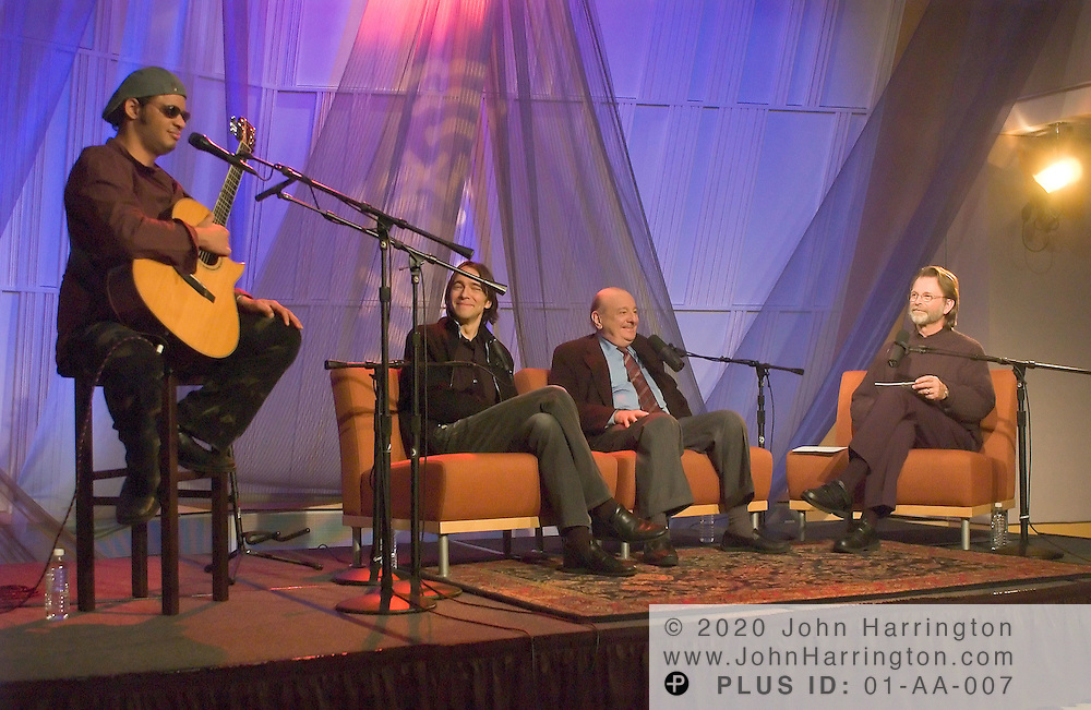 Raul Midon, a renowned Turkish-American music producer joins Raul Midon and his son to  perform at XM studios for an Artist Confidential on Thursday October 28, 2004.
