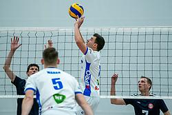 21-12-2019 NED: AVV Keistad - Lycurgus, Amersfoort<br /> 1/4 final National Cup season volleyball men, Lycurgus win 3-0 / Stijn Held #3 of Lycurgus