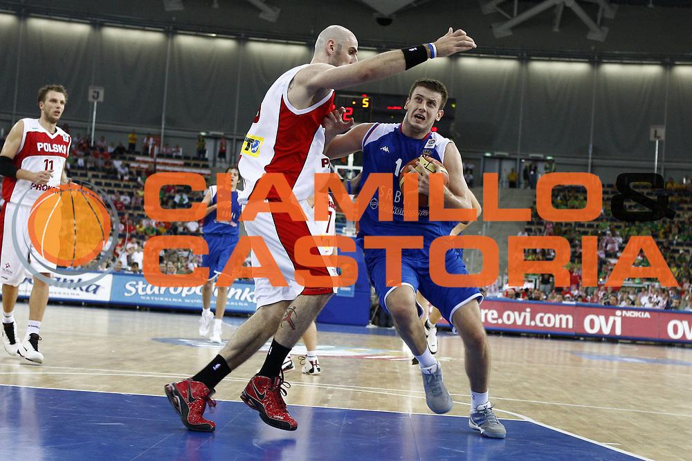 DESCRIZIONE : Lodz Poland Polonia Eurobasket Men 2009 Qualifying Round Polonia Serbia Poland Serbia<br /> GIOCATORE : Novica Velickovic<br /> SQUADRA : Serbia<br /> EVENTO : Eurobasket Men 2009<br /> GARA : Polonia Serbia Poland Serbia<br /> DATA : 12/09/2009 <br /> CATEGORIA :<br /> SPORT : Pallacanestro <br /> AUTORE : Agenzia Ciamillo-Castoria/E.Castoria<br /> Galleria : Eurobasket Men 2009 <br /> Fotonotizia : Lodz Poland Polonia Eurobasket Men 2009 Qualifying Round Polonia Serbia Poland Serbia<br /> Predefinita :