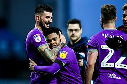 Eros Pisano and Jay Dasilva of Bristol City celebrate victory over Blackburn Rovers - Mandatory by-line: Robbie Stephenson/JMP - 09/02/2019 - FOOTBALL - Ewood Park - Blackburn, England - Blackburn Rovers v Bristol City - Sky Bet Championship