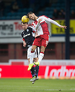 Rangers' Harry Forrester and Dundee's Paul McGowan  - Dundee v Rangers in the Ladbrokes Scottish Premiership at Dens Park, Dundee.Photo: David Young<br /> <br />  - © David Young - www.davidyoungphoto.co.uk - email: davidyoungphoto@gmail.com
