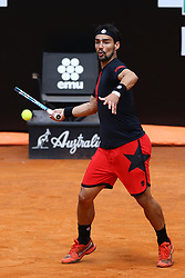 May 18, 2018 - Rome, Italy - Fabio Fognini (ITA) celebrates at Foro Italico in Rome, Italy  during Tennis ATP Internazionali d'Italia BNL quarter-finals on May 18, 2018. (Credit Image: © Matteo Ciambelli/NurPhoto via ZUMA Press)