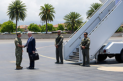 May 31, 2017 - Honolulu, Hawaii, U.S. - Defense Secretary Jim Mattis is greeted by Navy Adm. Harry B. Harris Jr., commander of U.S. Pacific Command, upon his arrival at Joint Base Pearl Harbor-Hickam, Hawaii, on the stop of an overseas trip, May 31, 2017. (Credit Image: ? Jette Carr/DoD via ZUMA Wire/ZUMAPRESS.com)