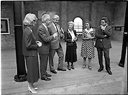 10/09/1988<br /> 09/10/1988<br /> 10 September 1988<br /> ROSC 1988 Exhibition at the Guinness Hop Store. <br /> Sir Norman Mcfarlane visits ROSC '88. Mr Pat Murphy, (second from left) Chairman of ROSC with Sir Norman Macfarlane, (third from left) Chairman of Guinness plc and Lady Gretta Macfarlane (third from right) during their visit to ROSC '88.