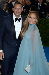 Jennifer Lopez and Alex Rodriguez arrive on the red carpet at the Costume Institute Benefit at The Metropolitan Museum of Art celebrating the opening of Rei Kawakubo/Comme des Garcons: Art of the In-Between in New York City, NY, USA, on May 1, 2017. Photo by Dennis Van Tine/ABACAPRESS.COM