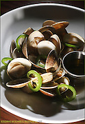Boston, MA  012111 Grilled clams with jalapenos from the Citizen Public House in the Fenway on  January 21, 2011. (Essdras M Suarez/ Globe Staff)/G