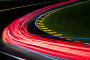 July 27-30, 2017 -  Total 24 Hours of Spa, Light trails racing up Eau Rouge at night