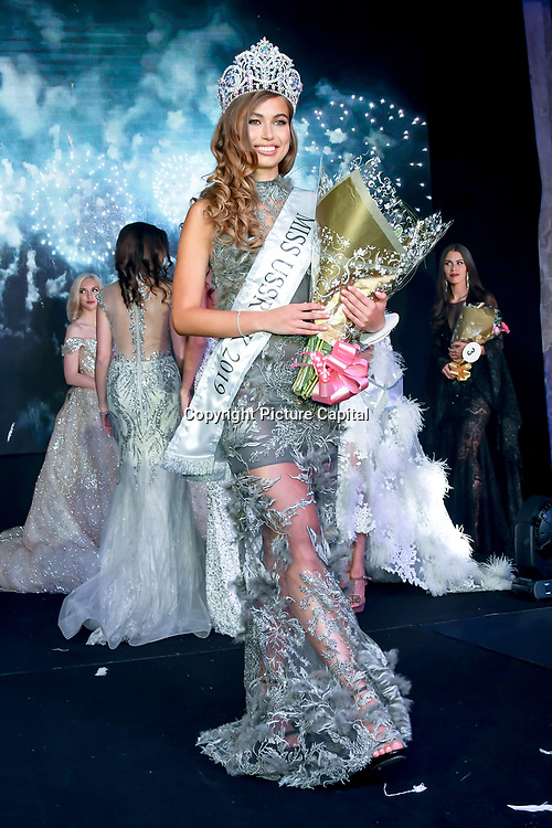 Anhelina Chabanian is the winner of Miss USSR UK 2019 2019 at Hilton Hotel Park Lane on 27 April 2019, London, UK.