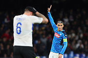 Jose Maria Callejon (R) of Napoli gestures during the UEFA Champions League, Group E football match between SSC Napoli and KRC Genk on December 10, 2019 at Stadio San Paolo in Naples, Italy - Photo Federico Proietti / ProSportsImages / DPPI