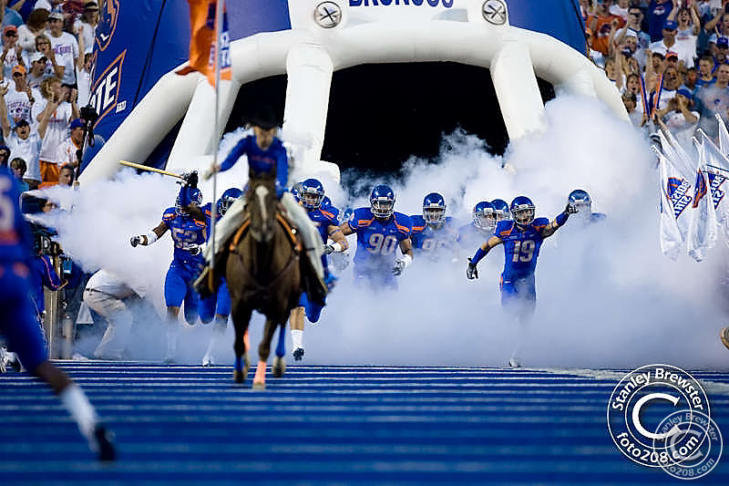 Boise State Broncos football tean defeated the Oregon Ducks 19-8 in the 2009 season opener Thursday September 3rd in Bronco Stadium in Boise Idaho.