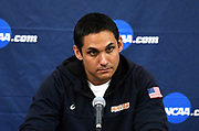 Pepperdine Waves coach David Hunt at a news conference after an NCAA Championships opening round match against the Princeton Tigers, Wednesday, April 30, 2019, in Long Beach, Calif. Pepperdine defeated Princeton 25-23, 19-25, 25-16, 22-25, 15-8.